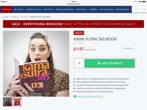 Karma Sutra book. Was 7.99 now £1.97 at MenKind (free C&C)