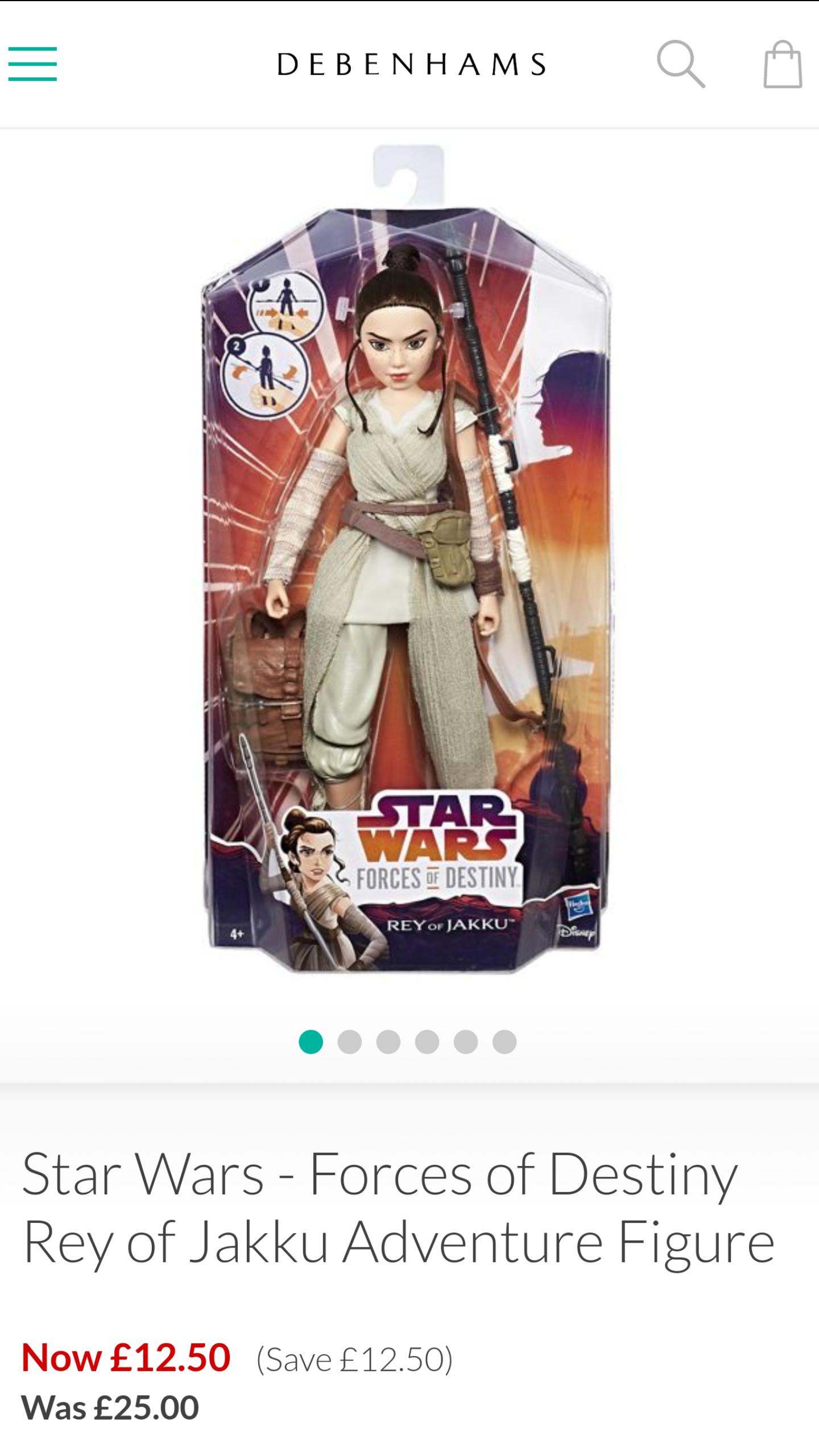 Star Wars-Forces of Destiny Rey of Jakku Adventure Figure - Debenhams - £12.50
