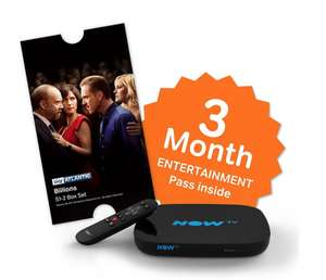 Now TV Smart Box, 3 Month Entertainment Pass + £5.49 Sky Store Voucher.