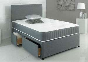 Grey Divan bed @ ebay daily deals/bedworld from £89.99 (pictured item £169.99)