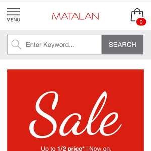 Sale on matalan instore and online (up to half price)