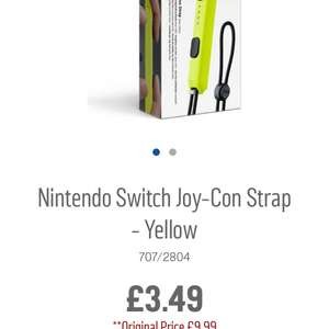Nintendo Switch Joy-Con Strap - Yellow @ Argos - £3.49 (free C&C)