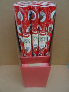 8 Meters Christmas wrapping paper at Lea Valley Tesco instore (London) - 0.05p.