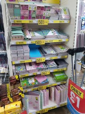 Stationery sets 50p poundworld (Liverpool)