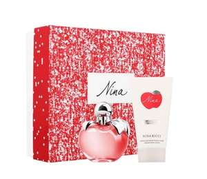 Nina Eau De Toilette 50ml + Body Lotion 75ml Gift Set @BeautyBase for £25 plus 1/2 price delivery for £1.98 with code HALVEIT and free sample