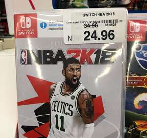 Nba2k18 for Nintendo Switch £24.96 instore @ Toys R Us
