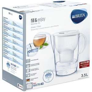 BRITA Marella XL MAXTRA+ Plus 3.5L Water Filter Table Jug + 1 Cartridge - White - £13.25 @ ozaroo-uk / eBay