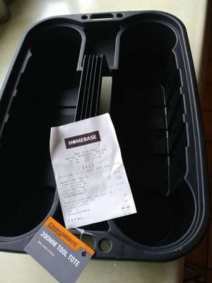 Homebase 390mm tool tote 50p instore (Harrow weald)