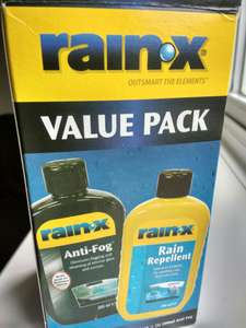 Rain-x anti-fog 200ml and Repellent 200ml value pack - £1.25 @ Tesco in-store