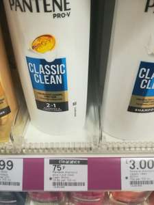 Pantene classic clean 2 in 1shampoo and conditioner 400ml 75p @ Boots instore