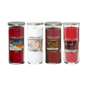 Official Yankee Candle Set Of 4 Festive Season Large Pillars (£10 each) @ amazon £39.99
