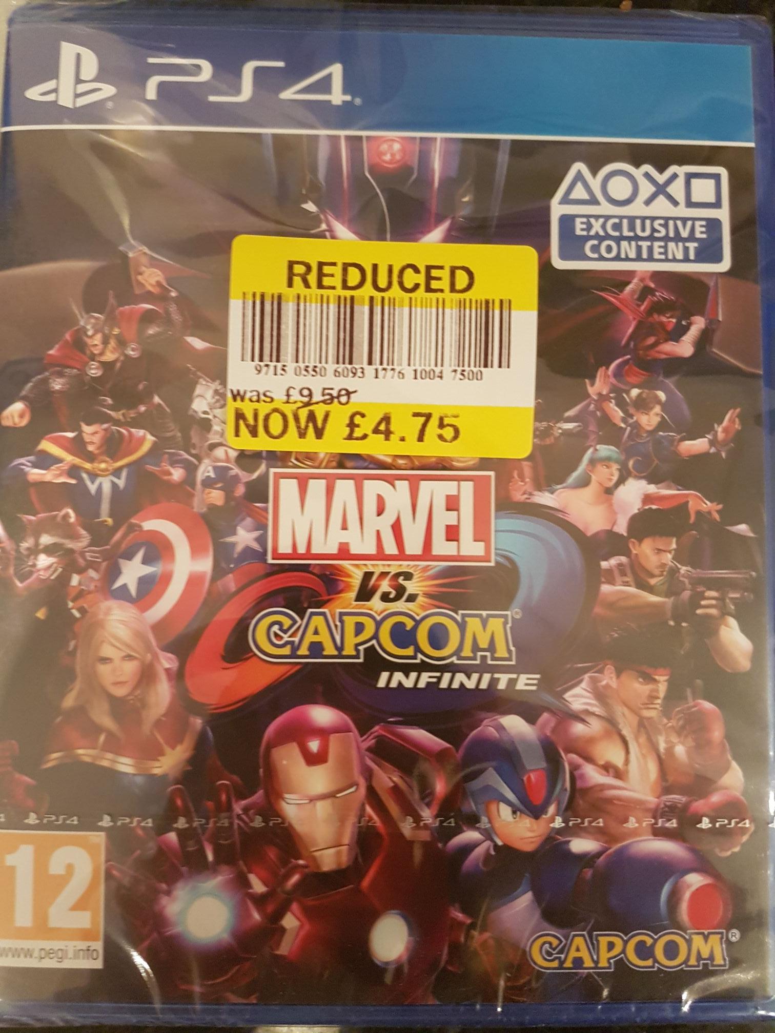 Marvel vs Capcom infinite PS4 instore at Tesco Gillingham for £4.75