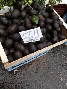 5 Avocados for a £1. Yes £1! at Ridley Road Market Dalston