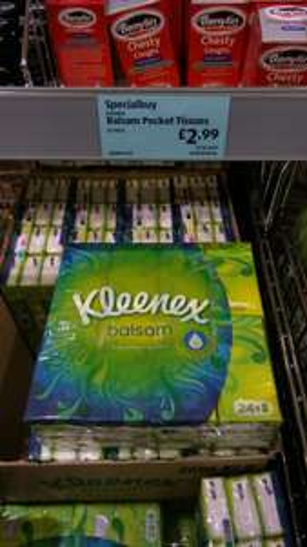 Kleenex balsam 24 pack tissues £2.99 ALDI