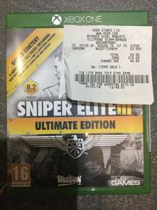 Sniper Elite 3 ultimate edition £3.50 @ Asda queensferry