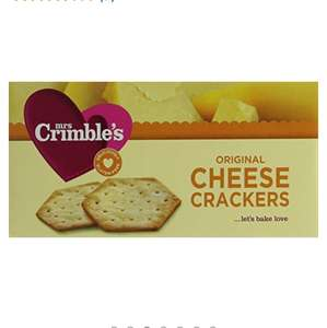 Mrs Crimbles Cheese Crackers 130g Gluten Free(pack of 6) Amazon Add On for £2.39