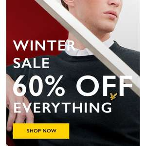 Lyle and Scott 60% off all sale (52 items)  free delivery orders over £75