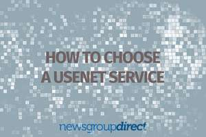 Unlimited Usenet access for $3.99 pm (£2.82 approx) at Newsgroupdirect