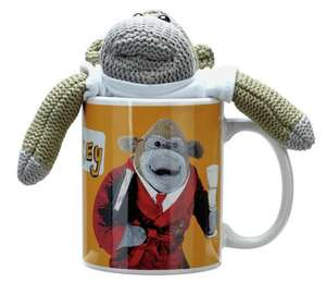 PG Tips monkey, mug and biscuits £3.24 at Argos