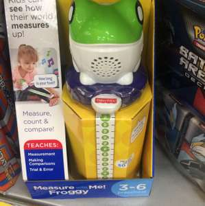 Fisher price measure me froggy reduced to clear @ Tesco (broughton) £3.70