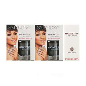 Fashionista The Saturdays Magnetism Nail Polish x2 10ml Was £12.99 Now 60p @ Fragrance Direct