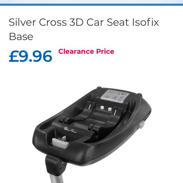 Silver cross isofix car base £9.96 C+C @ Toys R Us