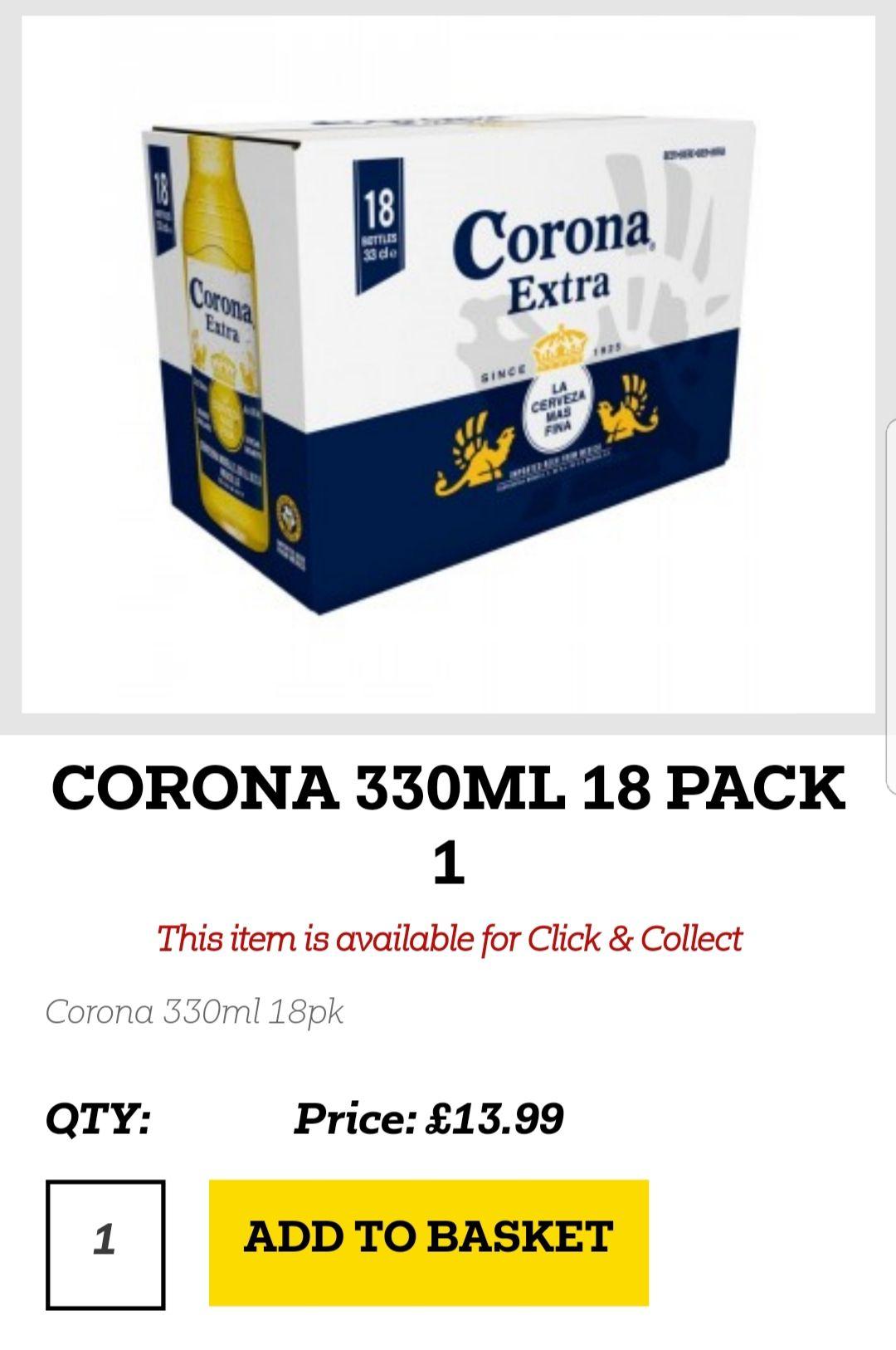 18 bottles of Corona for £13.99 @ bargain booze