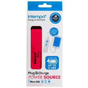 Intempo 1800mAh Plug & Charge Power Source £3.99 @ B&M instore