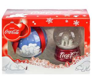 Coca - cola hand crafted bauble and polar bear snowglobe giftset Was £14.99 now £3.74 @ argos