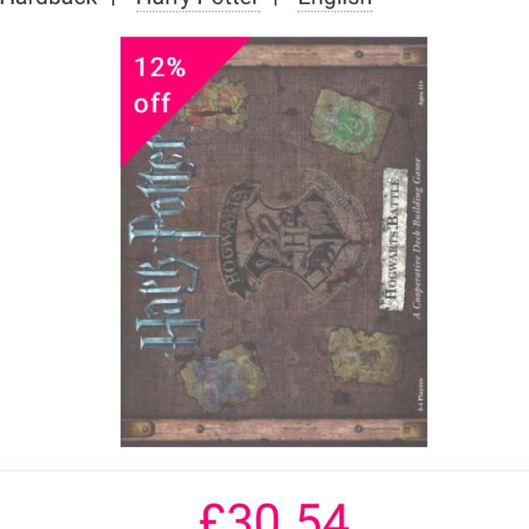 Harry Potter Hogwarts Battle Board Game - £30.54 delivered @ Book Depository