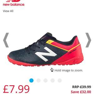 New Balance Junior Visaro Control TF Astro Football Boots Galaxy/Bright Cherry/Firefly - £7.99 / £12.48 delivered @ MandM Direct
