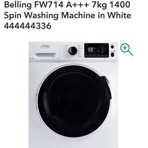 Belling FW714 A+++ 7kg 1400 Spin Washing Machine in White 444444336 - £332.99 delivered @ Co-op Electrical