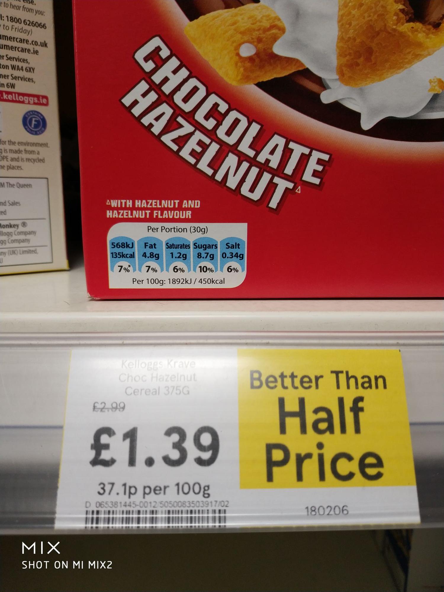 Kellogg's Krave Chocolate Hazelnut cereal - £1.39 instore @ Tesco