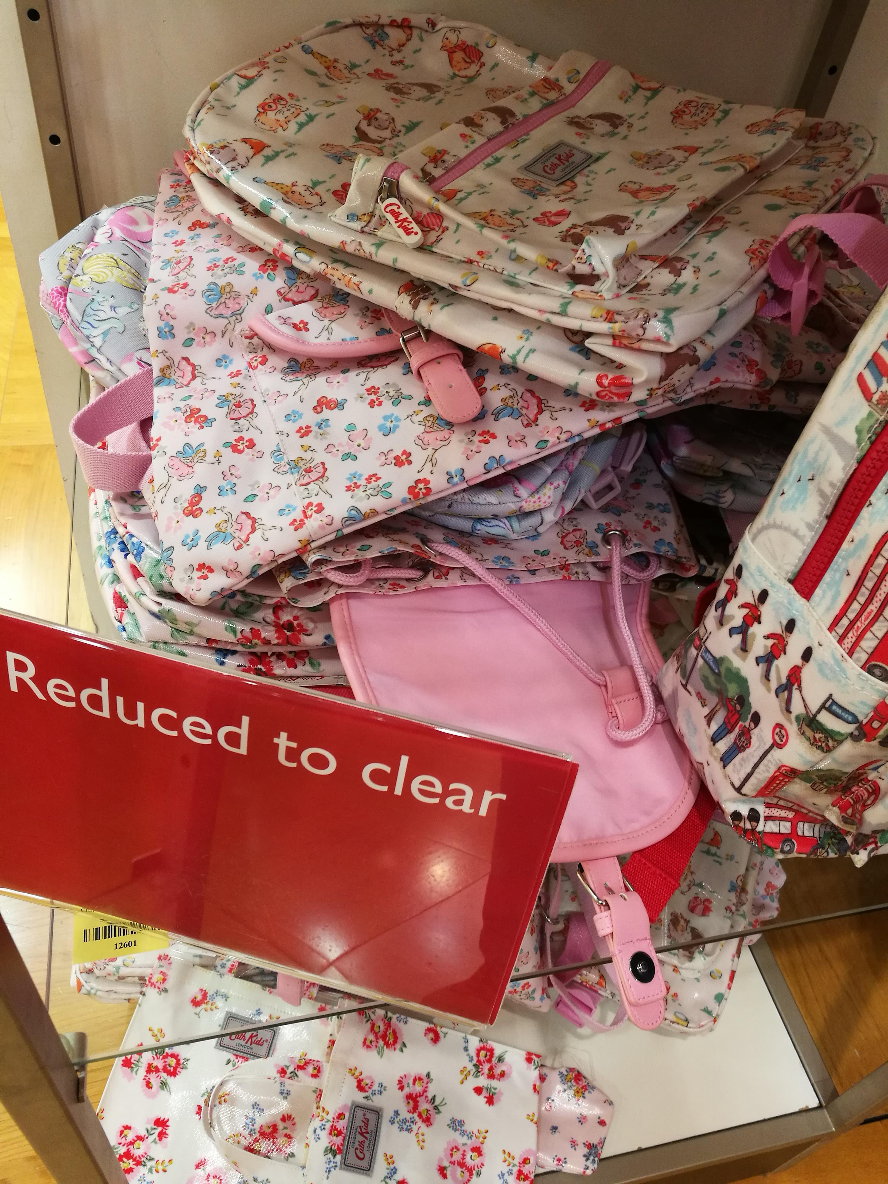 Cath Kidston rucksack bag £12.50 from £30 in-store John Lewis