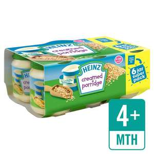 Heinz Creamed Porridge 4m+ 6 pack plus others only £1 at Asda in-store and online