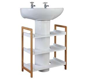 Collection Undersink Bamboo Storage Unit - Two Tone £24.99 at Argos