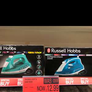 Russell Hobbs easy iron and supreme steam iron for 12.99 instore @ B&M (Preston)