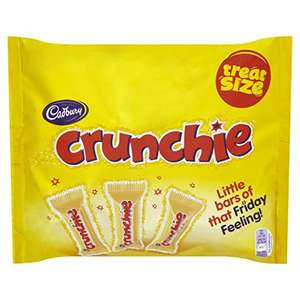 Cadbury Crunchie Chocolate Treatsize Bars, 210 g, Pack of 10 £12.86 Prime / £17.61 Non Prime @ Amazon