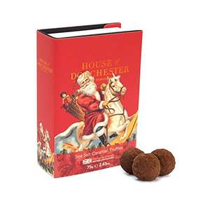 House of Dorchester Christmas Salted Caramel Truffles Book Box, 375 g (Pack of 5) £4.38 @ Amazon (Add on item)