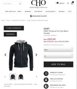 CHO have this Gant original hoodie was £100 reduced to £50 and code JE10 takes it down to £45