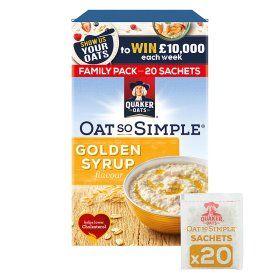 Quaker oats family pack 20 sachets £2 @ Asda