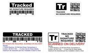 eBay sellers, this might help you stop getting ripped off! Fake Pretend Tracked Post Stickers £1.99 @ Ebay - gemsaninks
