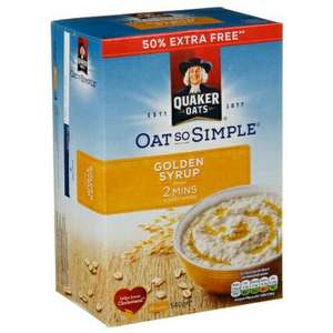 Quaker Oat So Simple. 50% extra free and 2 for £3 B&M