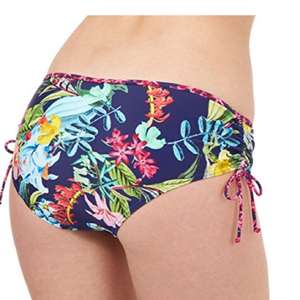 Debenhams : Mantaray Navy Floral Ruched Bikini Bottoms - £1 (plus £3.95 P&P) - Sold and Despatched by Debenhams via Amazon