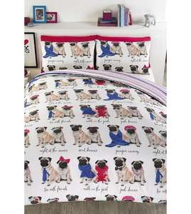 Its A Pugs Life Duvet Cover Set King size £12.99 (was £62.49)  @ Studio.