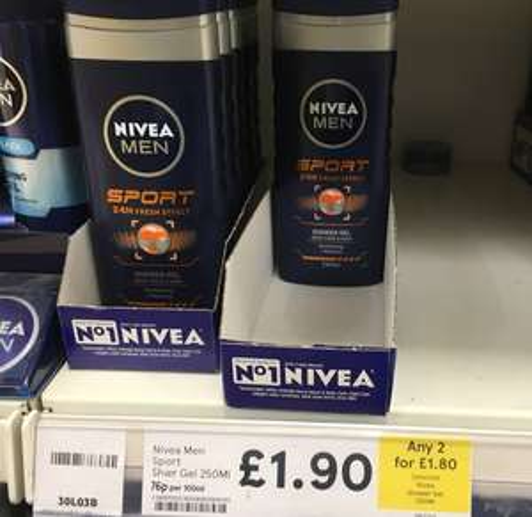 2 x Nivea Shower Gel £1.80 (Normally £1.90 each) instore @ Tesco