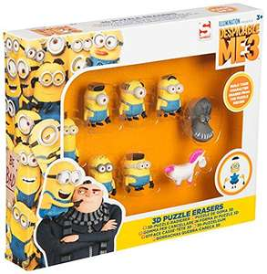 Despicable Me 3 3D Puzzle Erasers - £2 - Sold by Ellis Ltd / Fulfilled by Amazon - Add-on Item
