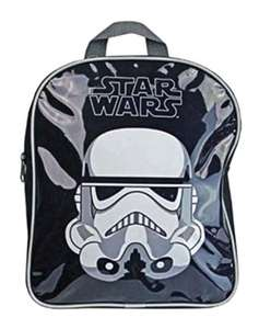 Childrens Star Wars Stormtrooper Boys Bag Junior Black Backpack - £2.94 Delivered - Sold and despatched by Anything 4 Home via Amazon