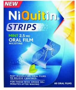 Niquitin Mint Oral Film Strips - Pack of 60 - £2.49 Delivered - Sold and Despatched by Book-Emporium via Amazon