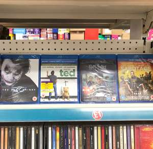 Ted / Harry Potter Deathly Hallows Pt. 2 / Sabotage / The Dark Knight Blu-ray £1 @Poundland